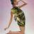 Art, beauté animale : illustration d'un crapaud sur le corps d'une femme.