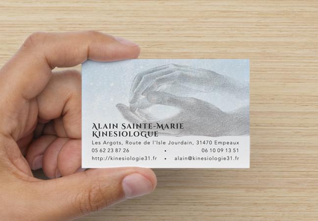 Carte De Visite Vue Face Pour La Kinsiologie Profession Librale