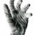 Étude, dessin d'une main gantée (crayon 2B, 4B,8B).