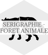 sérigraphie - foret animale