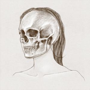 Visage de femme et crâne.